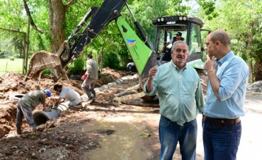 San Fernando realizó el entubamiento de la calle Uruguay