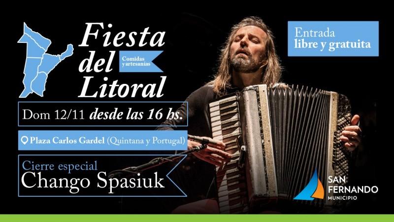Llega la 21° Fiesta del Litoral en San Fernando, con el 'Chango' Spasiuk