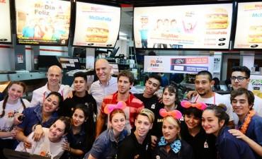 San Fernando presente en la jornada solidaria del 'McDía Feliz'