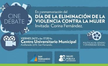 Cine Debate sobre violencia contra la mujer, en San Fernando