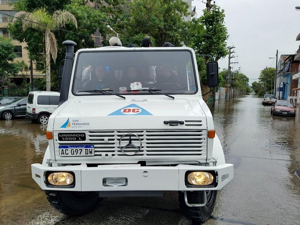 El COEM de San Fernando sostuvo un operativo preventivo por la sudestada