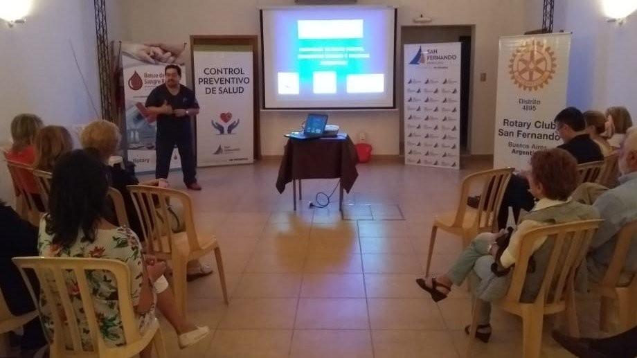 El Rotary Club de San Fernando fue sede de una capacitación en RCP