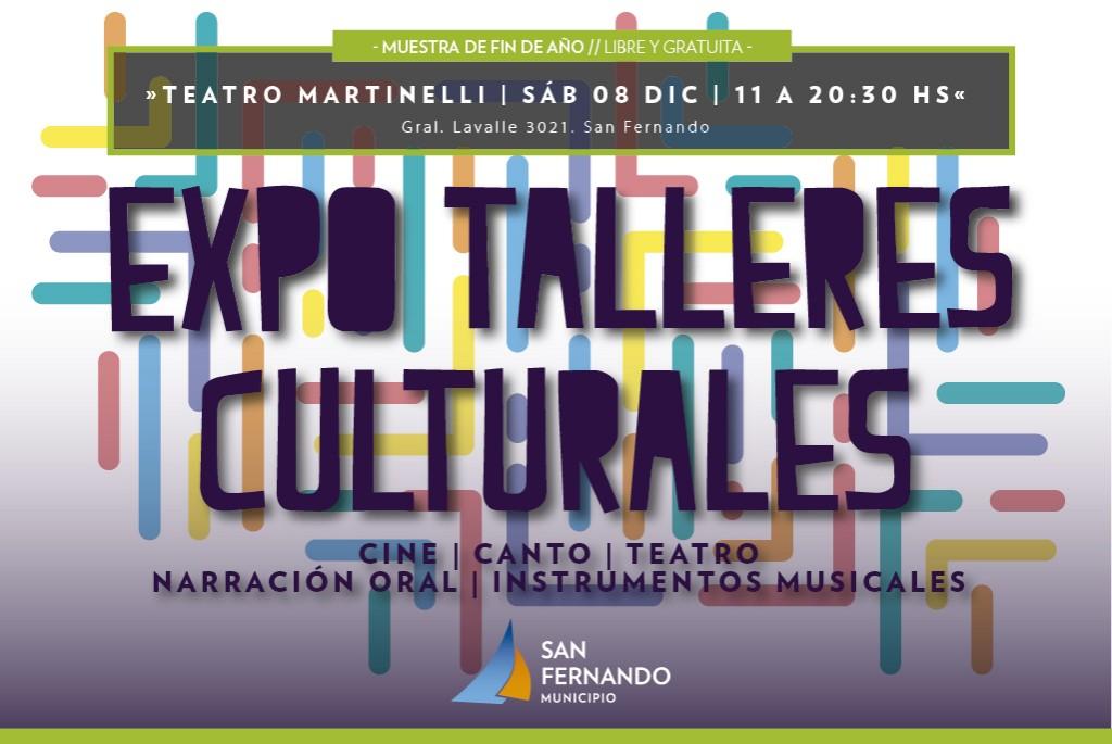 Llega la Expo Talleres Culturales 2019 de San Fernando