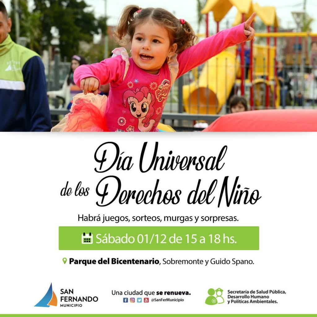 San Fernando celebrará el Día Universal de los Derechos del Niño en el Parque del Bicentenario