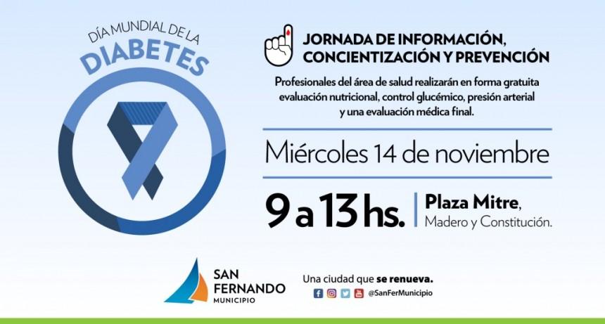"""Este miércoles 14, jornada del """"Día Mundial de la Diabetes"""" en Plaza Mitre"""