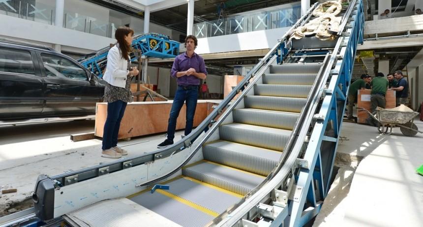 Se instalaron las escaleras mecánicas y los ascensores en el Hospital Municipal de San Fernando
