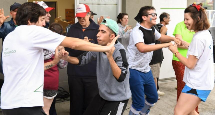 San Fernando fue sede de un encuentro regional recreativo para Personas con Discapacidad en el Poli 8