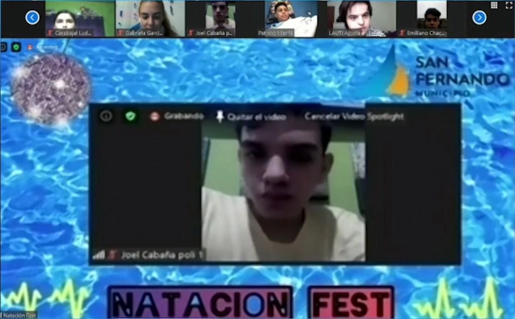 Con gran éxito, San Fernando realizó una nueva edición virtual de 'Natación Fest'