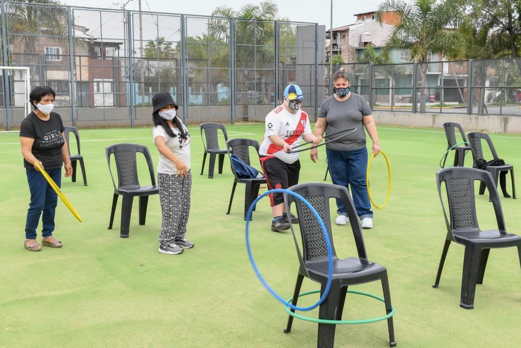 Se retomaron las actividades para personas con discapacidad en los Polideportivos de San Fernando