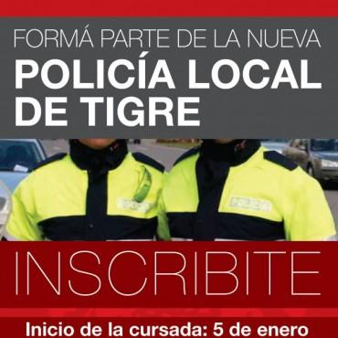 Últimos días para inscribirse a la Nueva Policía Local de Tigre