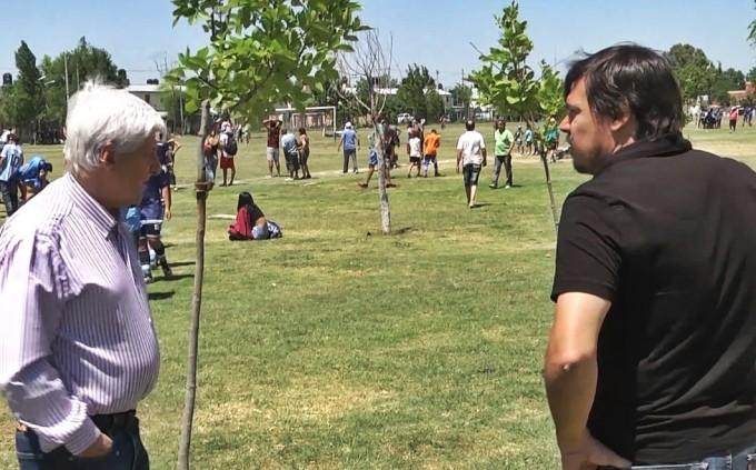 Andreotti presenció las finales de los Torneos de Fútbol de San Fernando