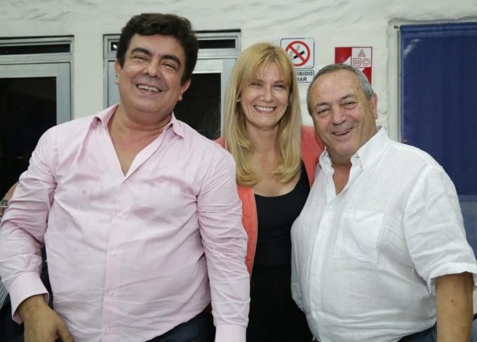 Espinosa y Magario en el Campo Deportivo de SUTACA (Roberto Passo)