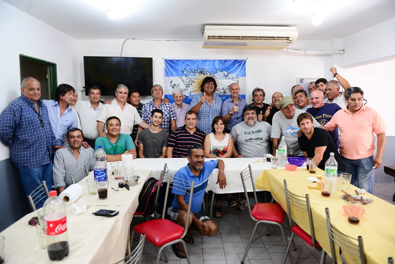 Andreotti y los Ex Combatientes de Malvinas festejaron por el trabajo conjunto durante 2017
