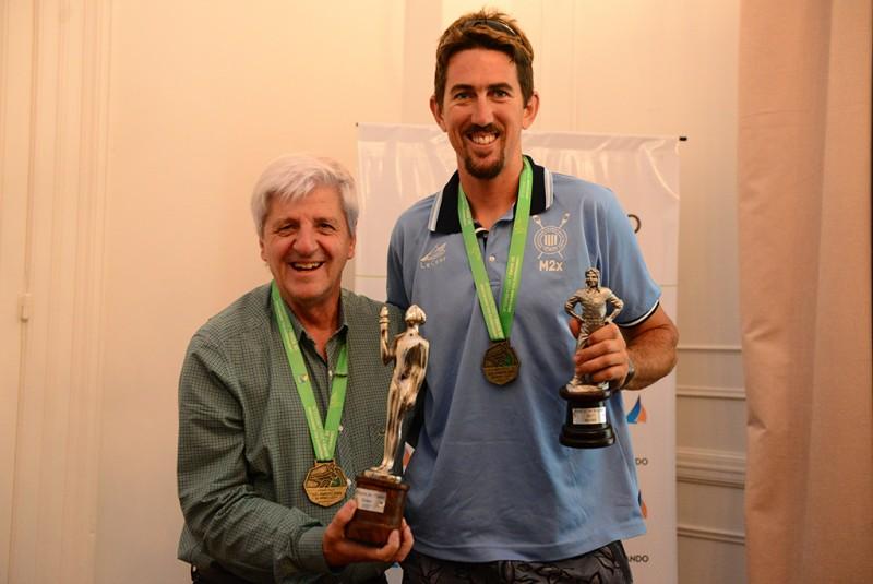 Andreotti reconoció al remero Rodrigo Murillo, ganador del Olimpia de Plata 2017