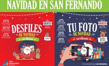 """Desfiles de Navidad y """"Tu foto con Papá Noel"""" en San Fernando"""