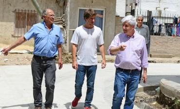 Andreotti visitó las mejoras integrales en el barrio Presidente Perón