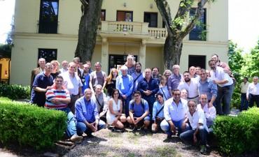 Andreotti y los periodistas locales despidieron el 2017