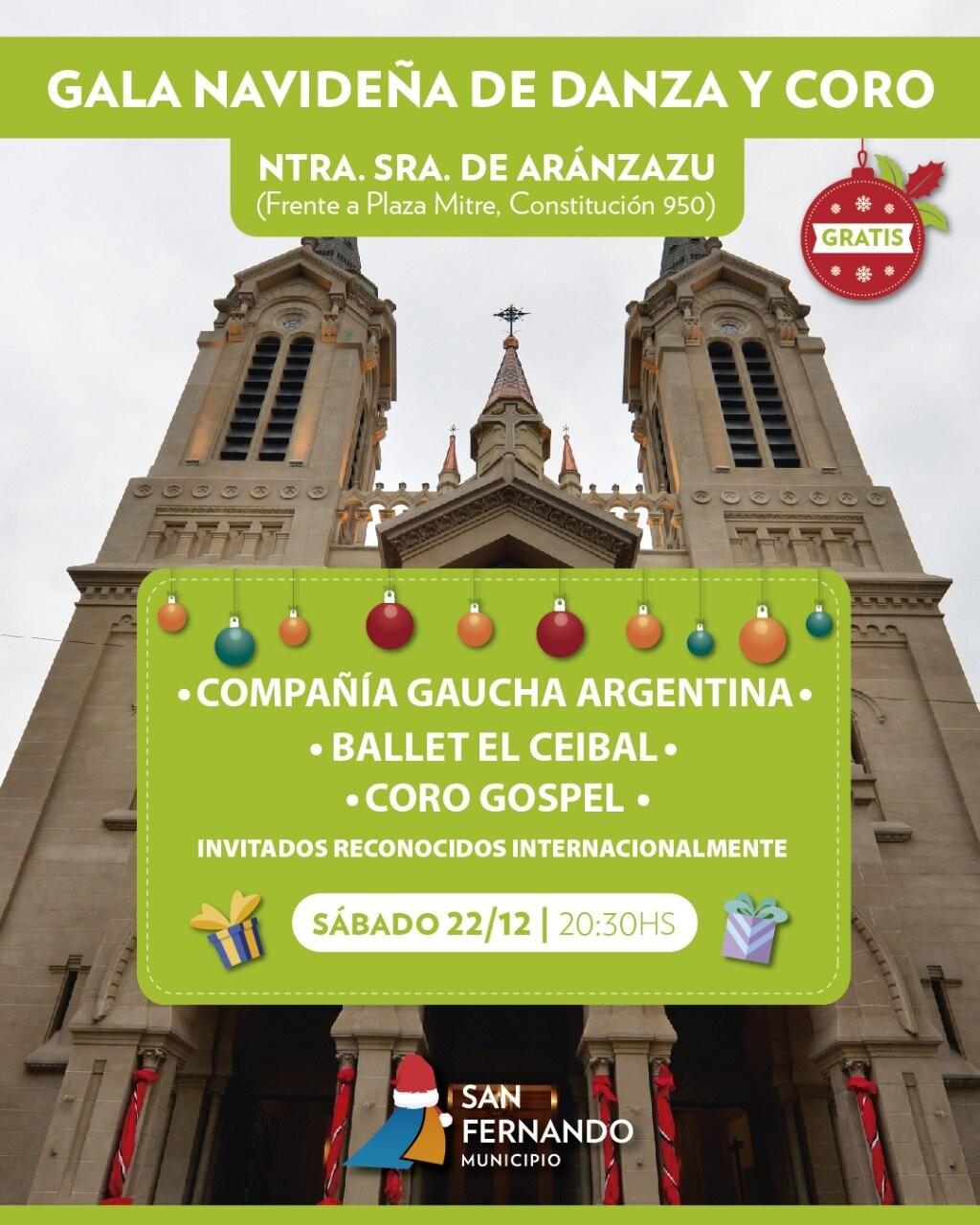 Este sábado, Gala Navideña de Danza y Coro en la Parroquia Aránzazu de San Fernando