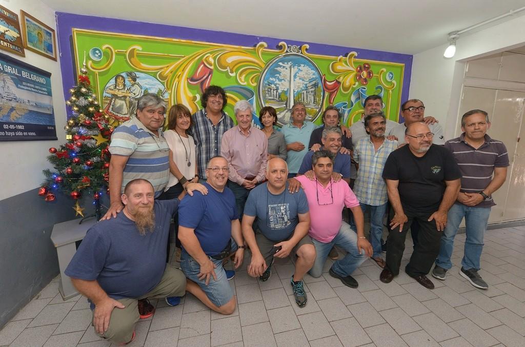 Andreotti y los Ex Combatientes de Malvinas festejaron lo logrado durante 2018