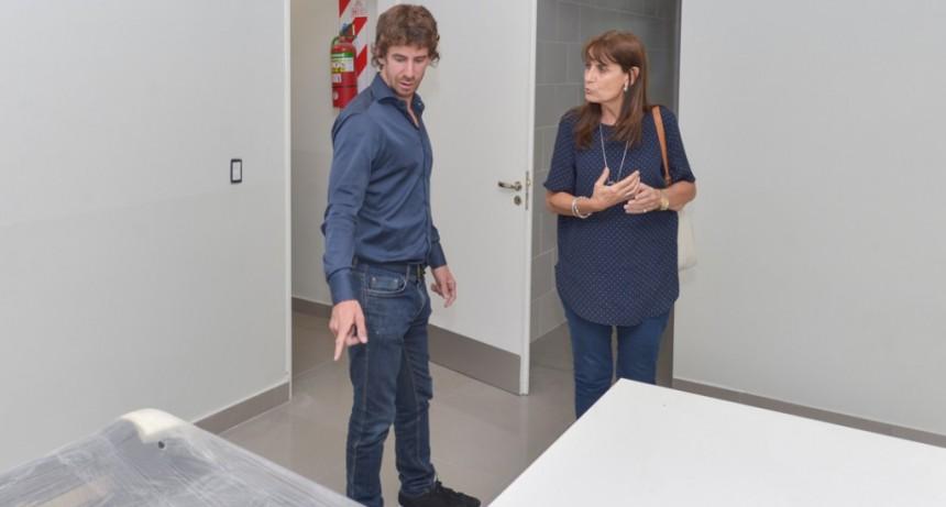 Andreotti visitó la obra de la Fiscalía y Comisaría de la Mujer
