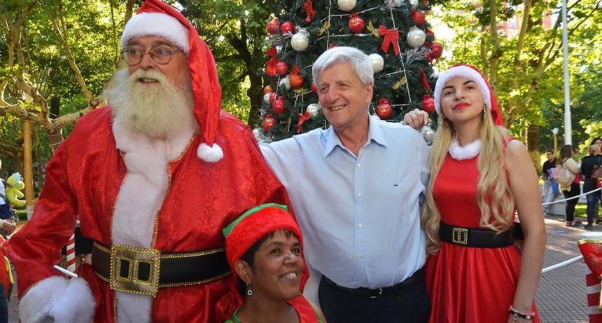 Papá Noel ya llegó a San Fernando