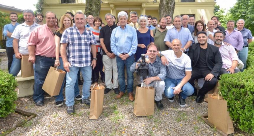 Andreotti felicitó a los periodistas locales por su trabajo durante el año 2018
