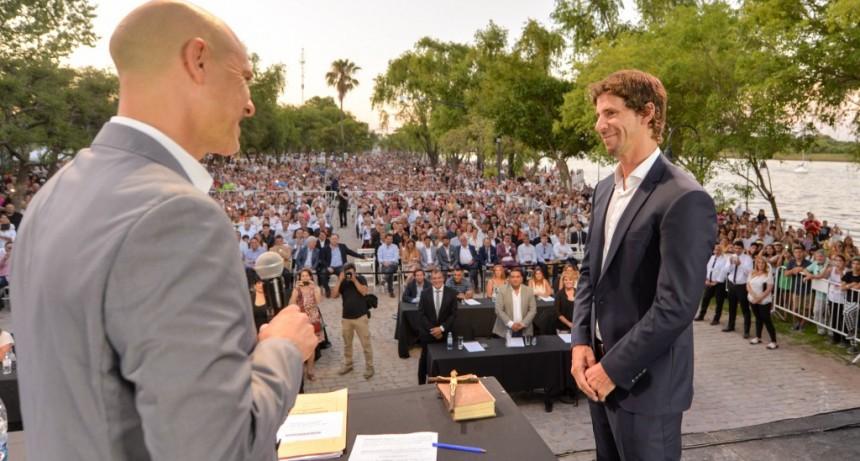 Juró Juan Andreotti en la inauguración de la nueva Costanera Municipal