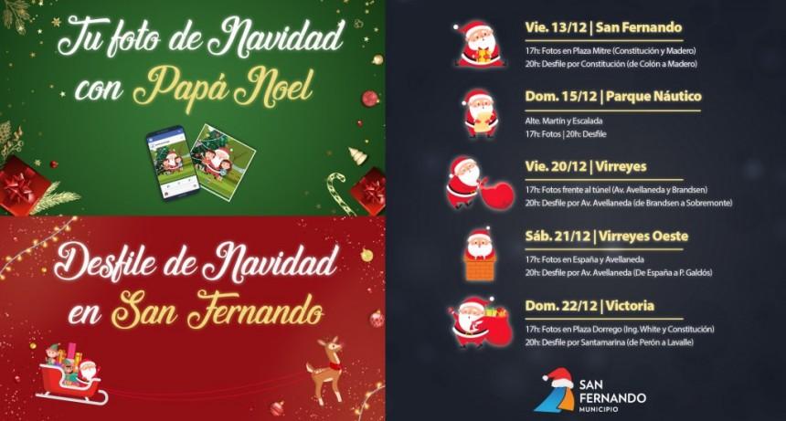 Llegan los Desfiles de Navidad, 'Tu Foto con Papá Noel' y el Warmichella Navideño a San Fernando