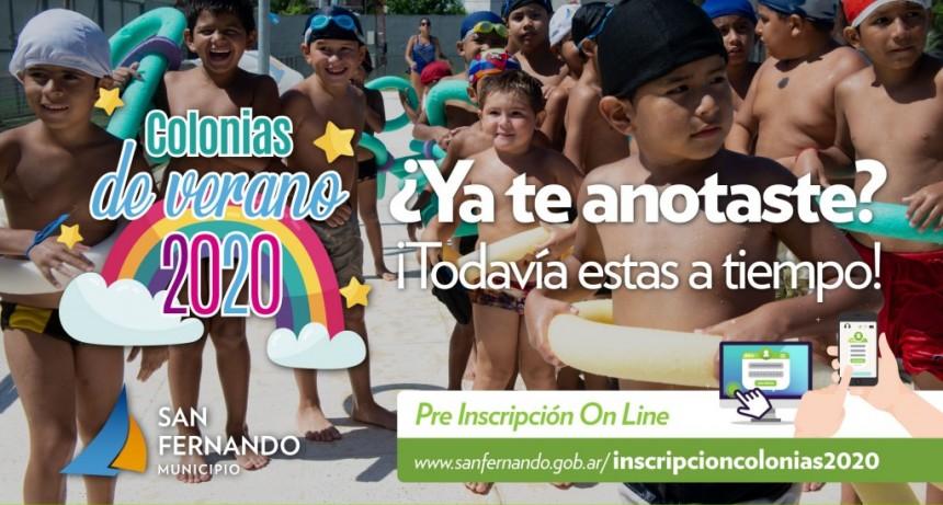 San Fernando: Continúa abierta la inscripción para las Colonias de Verano 2020