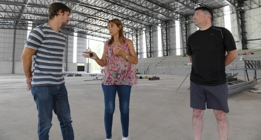 Juan Andreotti recorrió las obras del nuevo Microestadio de San Fernando