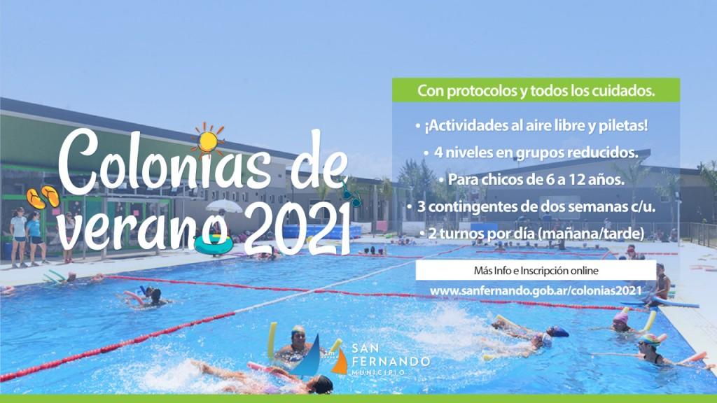 Este lunes, San Fernando abre la inscripción online para las Colonias de Verano 2021 con protocolos