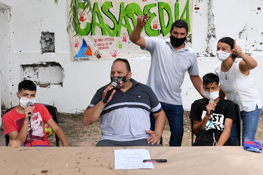 Los jóvenes del Centro Convivencial Terapéutico de San Fernando realizaron el cierre de fin de año